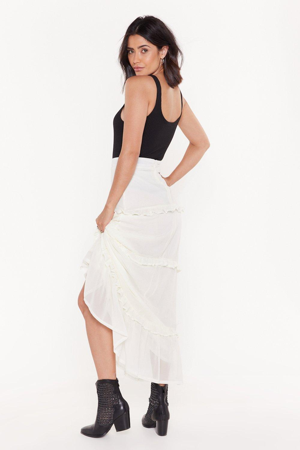 8b85b0710f99a Frills in the Night High-Waisted Maxi Skirt | Shop Clothes at Nasty Gal!