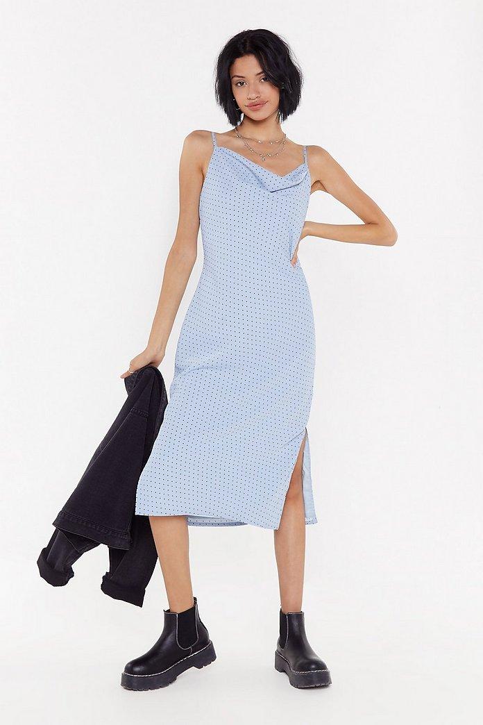 Cowl Midi Dress by Nasty Gal