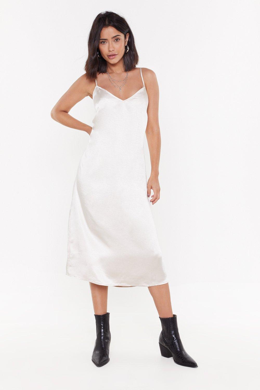 48098fc66682c I'll V Back Babe Satin Midi Dress   Shop Clothes at Nasty Gal!