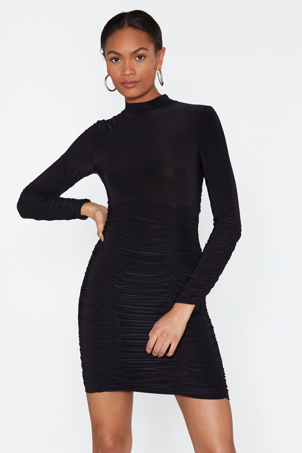 ca89e58d3ec5 Slinky Ruched Bottom Mini Dress | Shop Clothes at Nasty Gal!