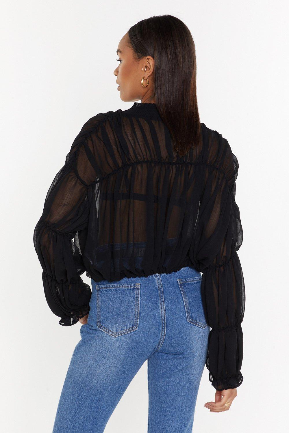 56053d442d7 Sheer for the Beer Ruched Blouse | Shop Clothes at Nasty Gal!