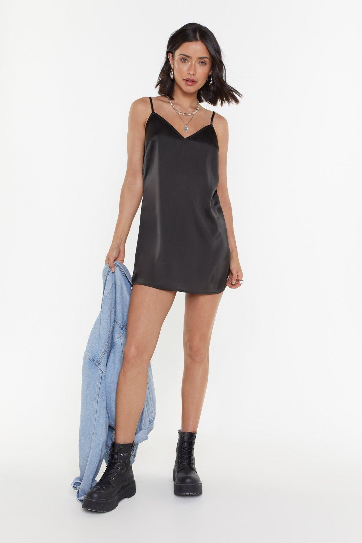 7110065177d5 Basic Satin Mini Dress   Shop Clothes at Nasty Gal!