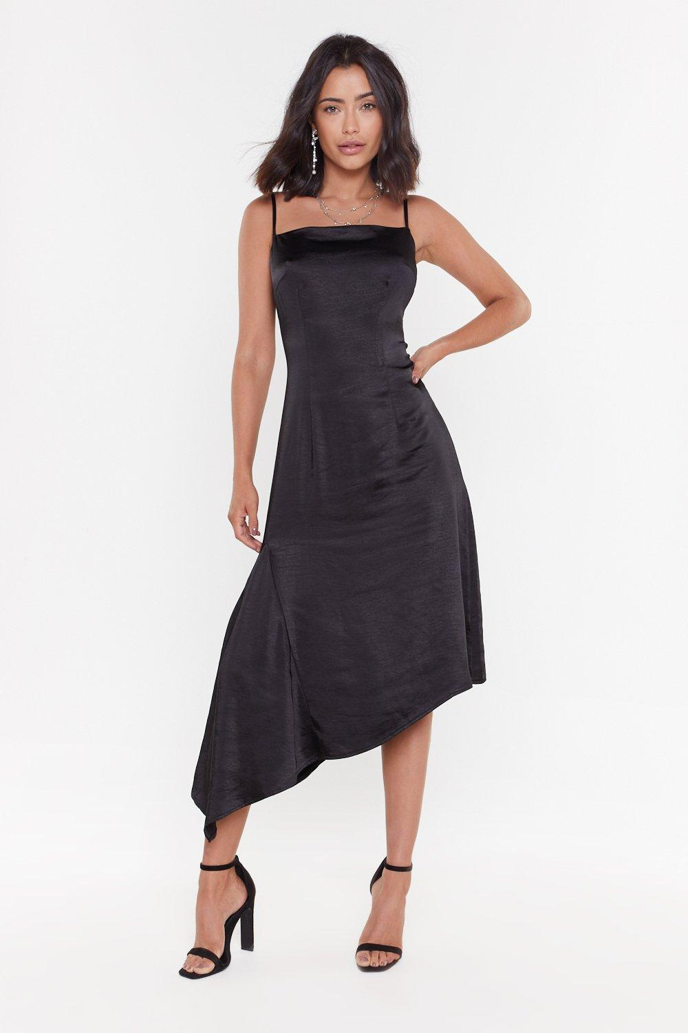 7ed9d7887 It's All Satin-ing Aysmmetric Midi Dress | Shop Clothes at Nasty Gal!