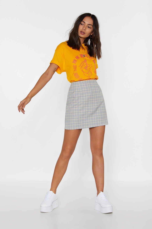 01d08f3e3eb85 Grey Check Mini Skirt | Shop Clothes at Nasty Gal!