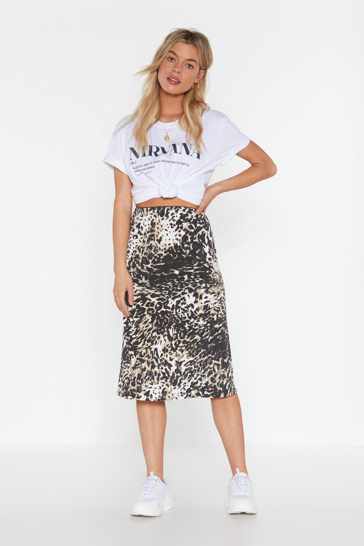 94649a0177 Go Wild Animal Midi Skirt | Shop Clothes at Nasty Gal!