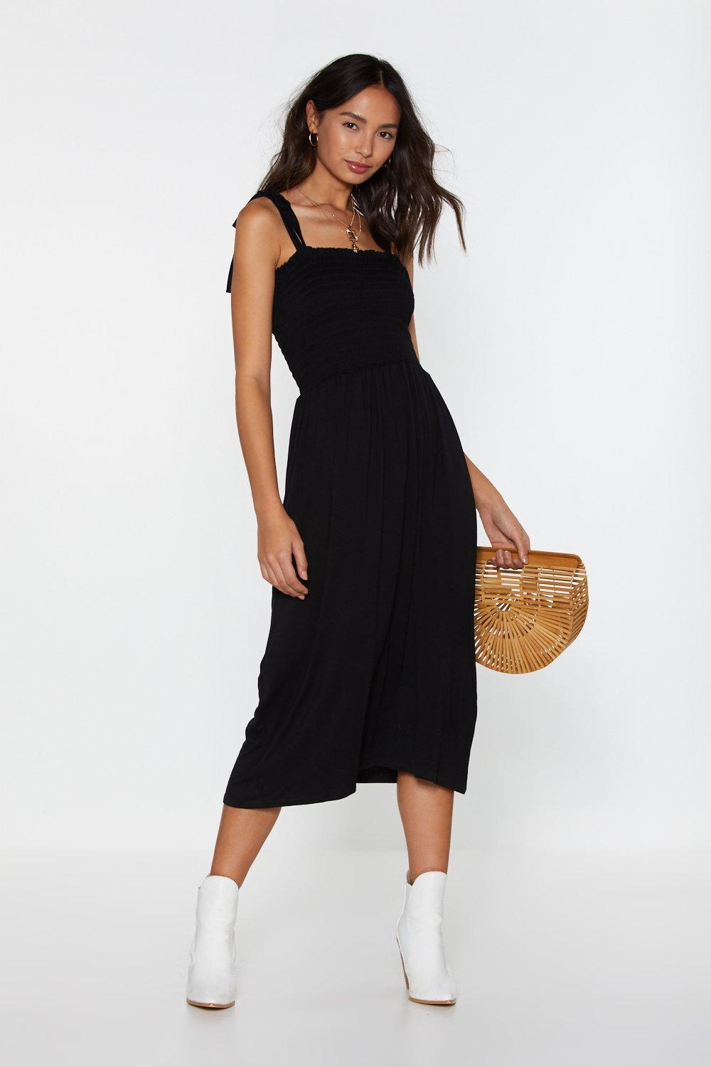 cc90e8c1ca31a Forget What You Shirred Tie Midi Dress | Shop Clothes at Nasty Gal!