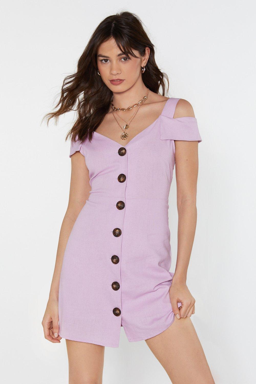 3280c0a1dac Drive on Button-Down Linen Mini Dress