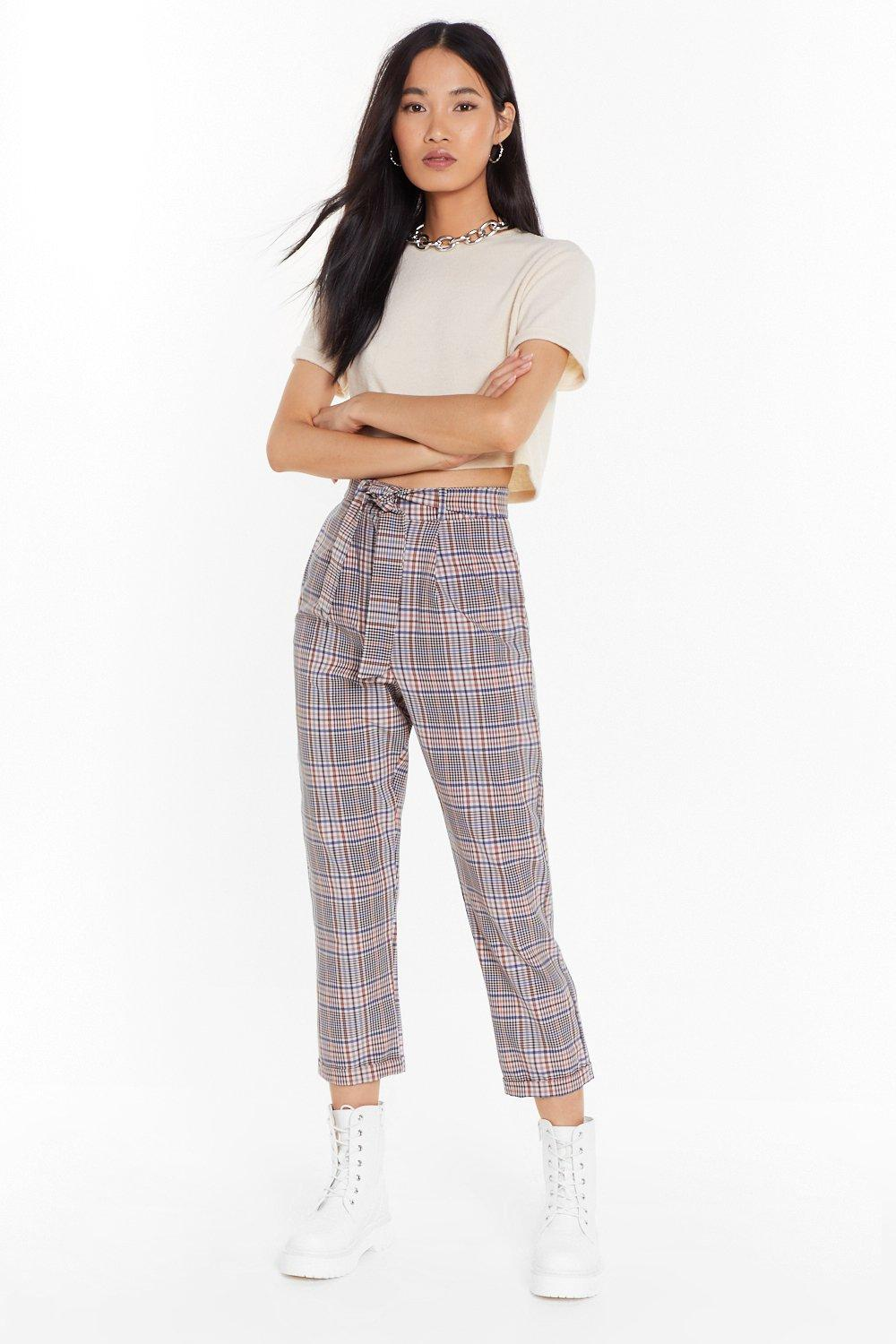 68eeffbf8537 Check Your Facts High-Waisted Pants