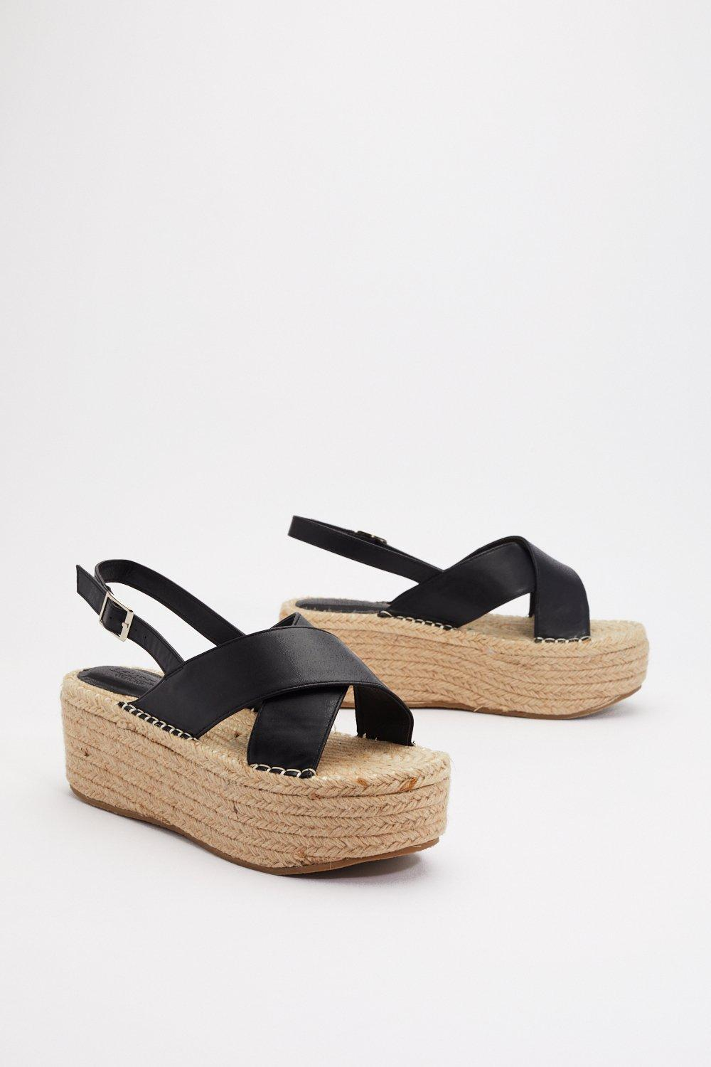 a65140fa232 ... Cross Woven Platform Sandals. Hover to zoom