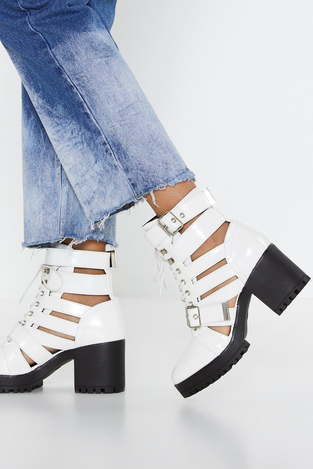 c361fc2e55 Cut-Out of Luck Block Heel Boots | Shop Clothes at Nasty Gal!