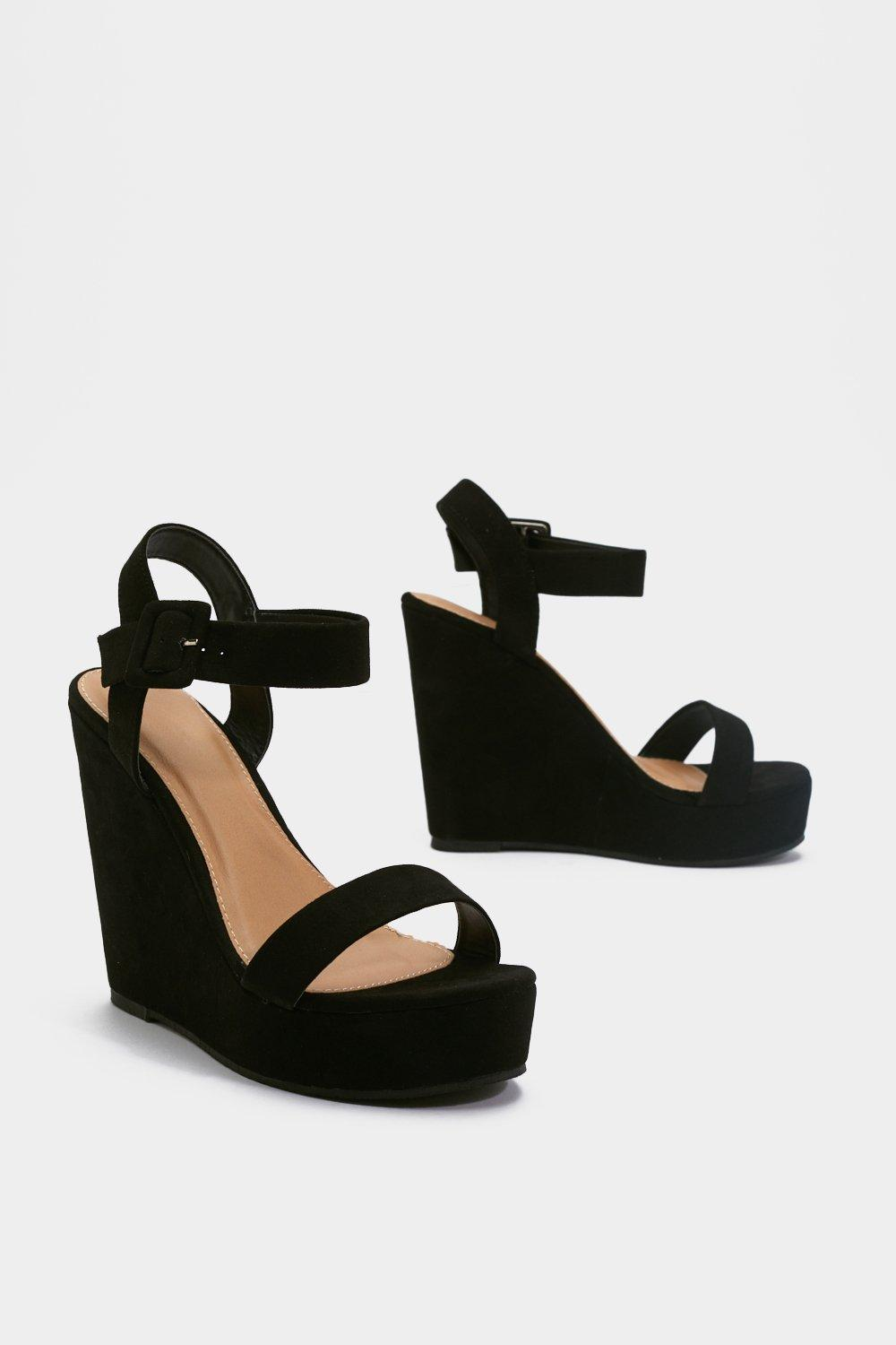 1d4d6fb5f4d High What's Up Faux Suede Wedges | Shop Clothes at Nasty Gal!