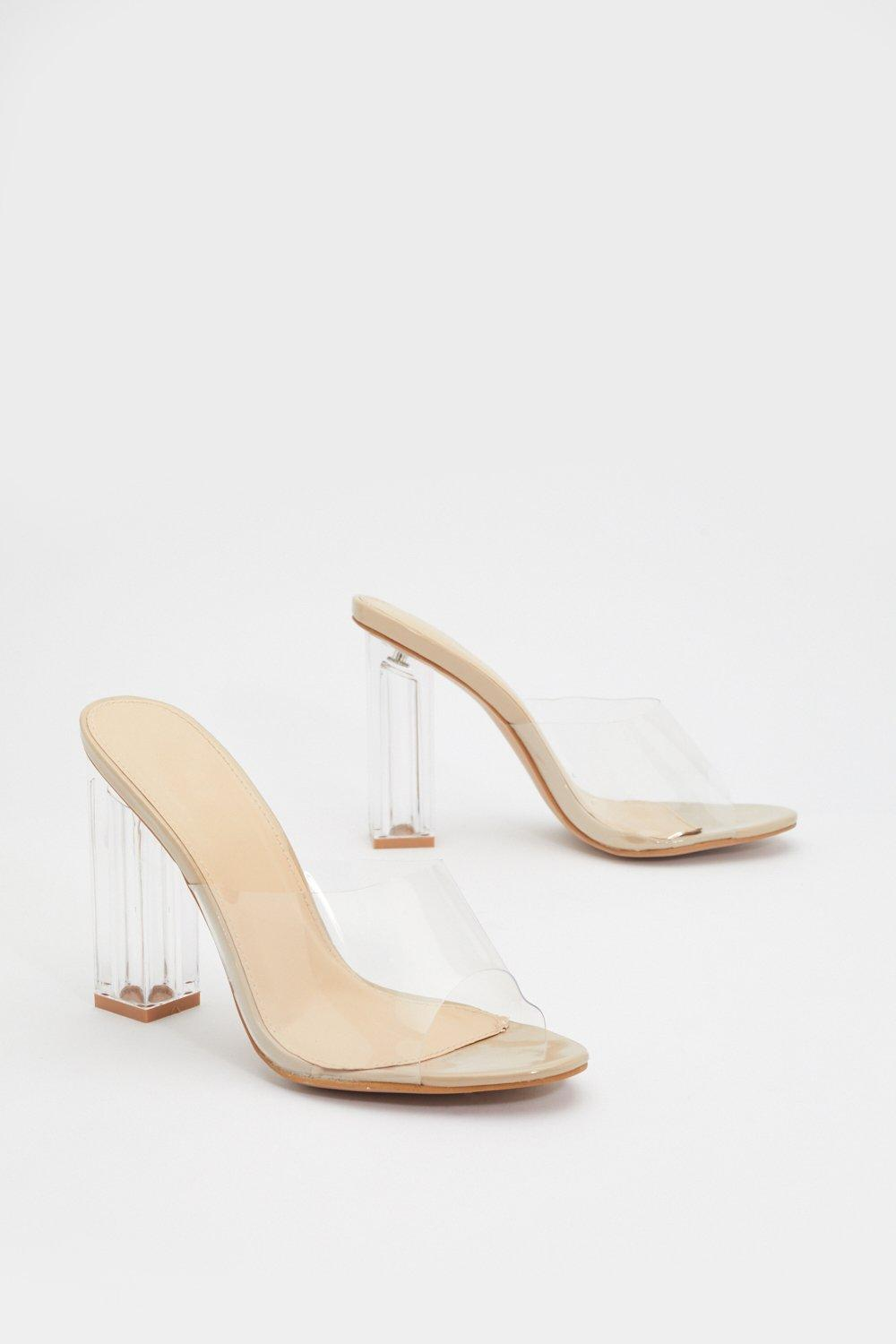 d8a67afec88 In the Clear Block Mules | Shop Clothes at Nasty Gal!