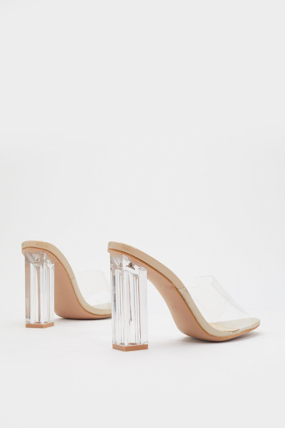 13a87405ad In the Clear Block Mules | Shop Clothes at Nasty Gal!