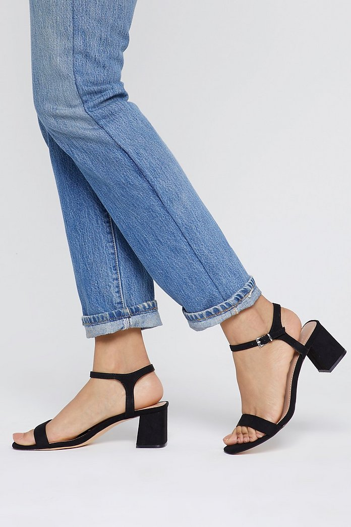 A Low It Flare Block Heel Sandals | Nasty Gal