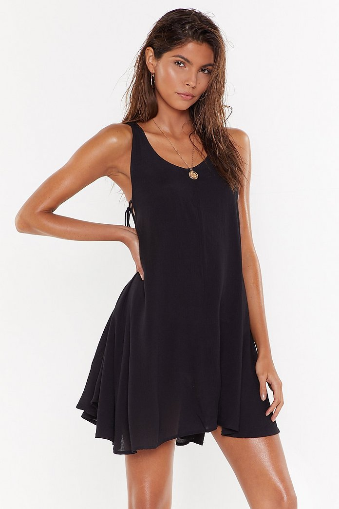 Side Eye Lace Up Cover Up Dress Shop Clothes At Nasty Gal
