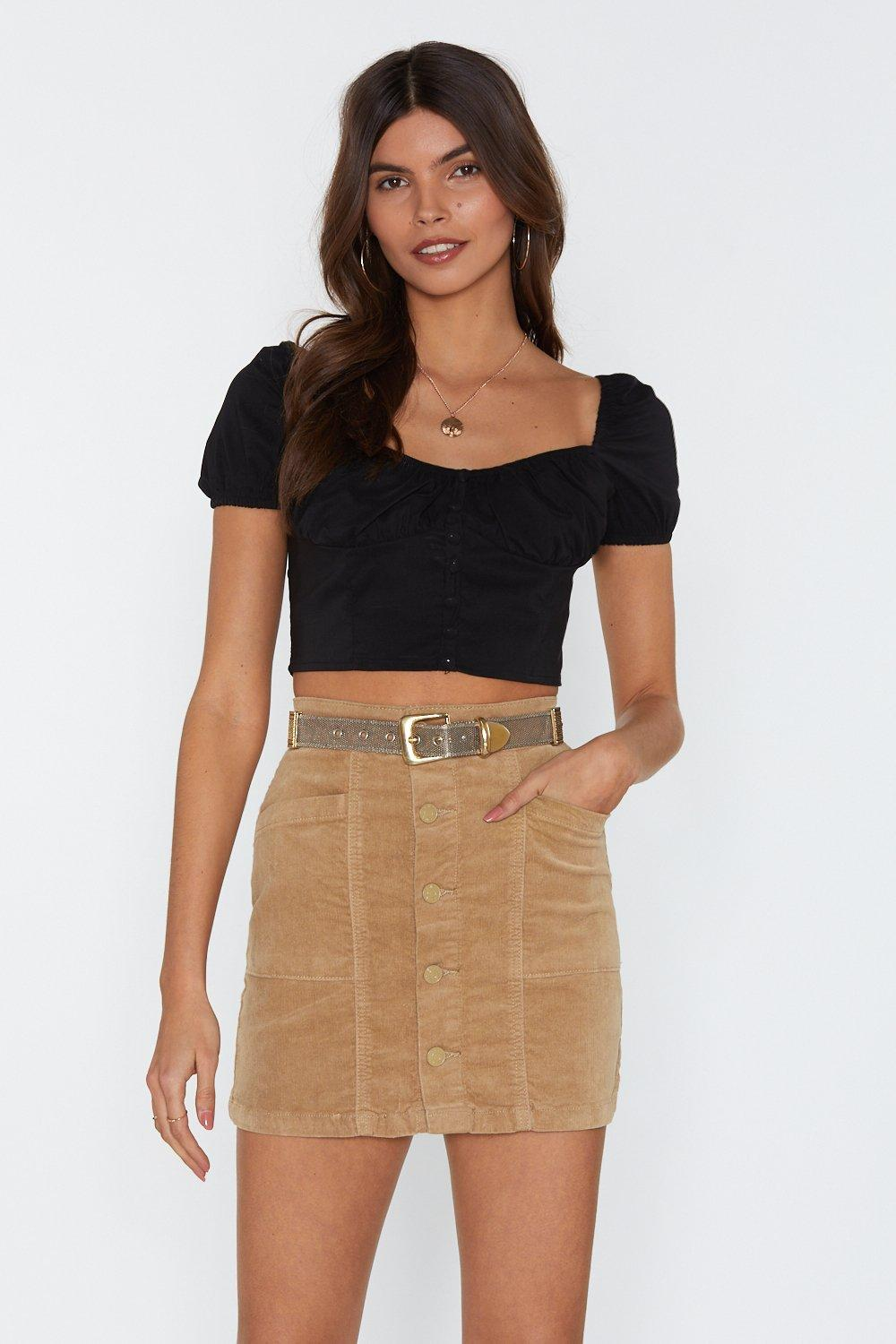 27cc081d0 One More Skirt Corduroy Mini Skirt   Shop Clothes at Nasty Gal!