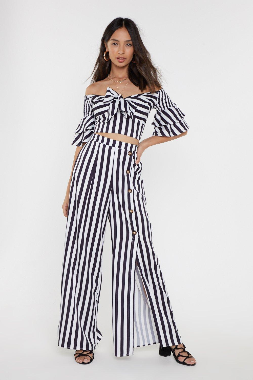 5be3a00e00ed Striped Knot Front Co-ord