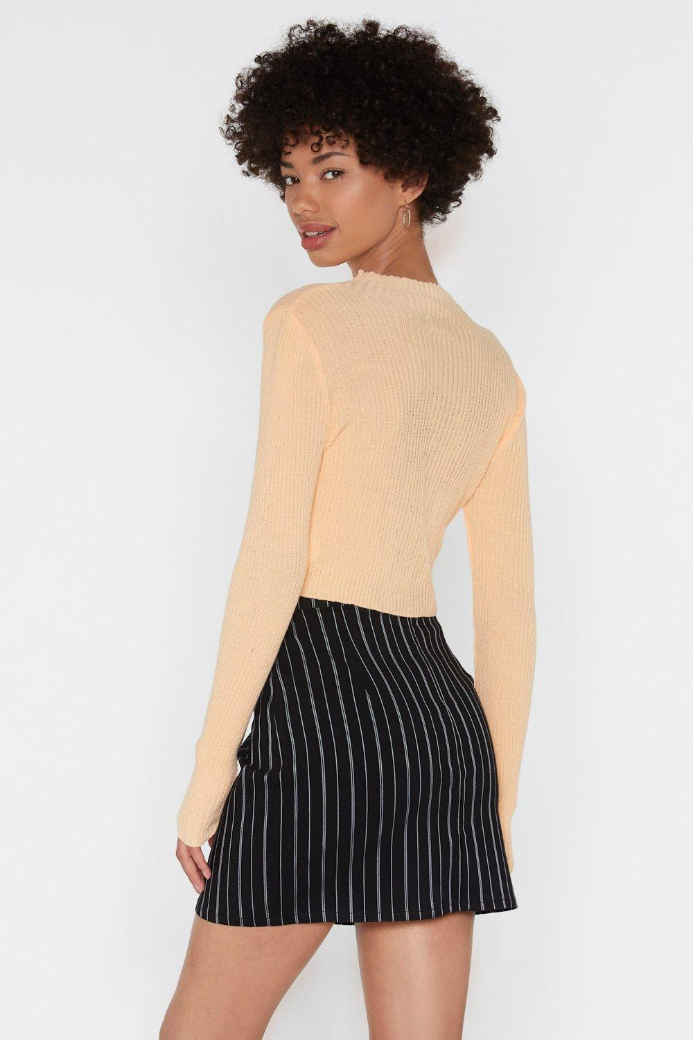 d8eba9bf4b In Your Own Line Pinstripe Mini Skirt | Shop Clothes at Nasty Gal!