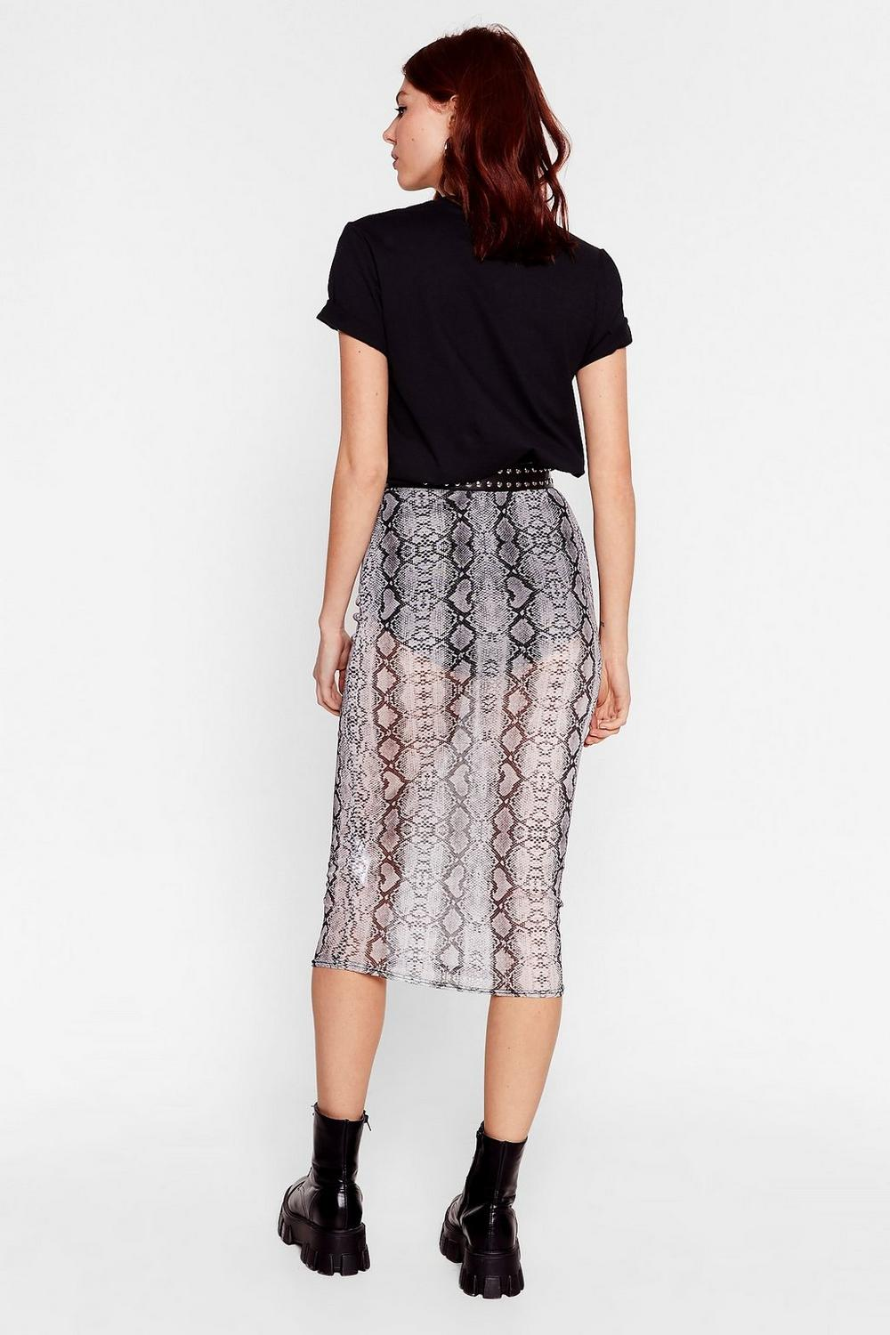 1a6670fb0 Call It a Snake Through Mesh Midi Skirt | Shop Clothes at Nasty Gal!