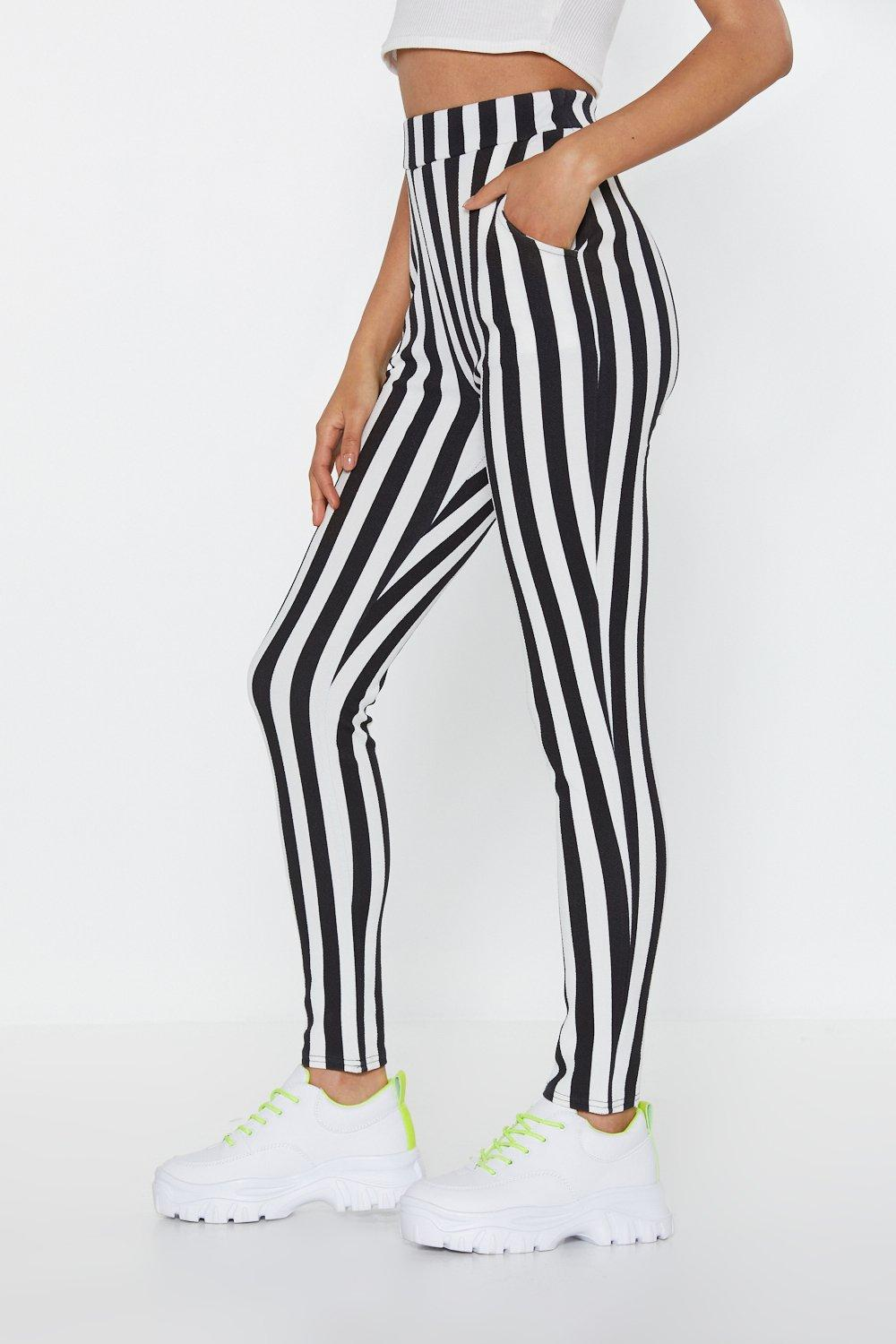 271b4555c2d58 Line Your Pockets Striped Leggings | Shop Clothes at Nasty Gal!