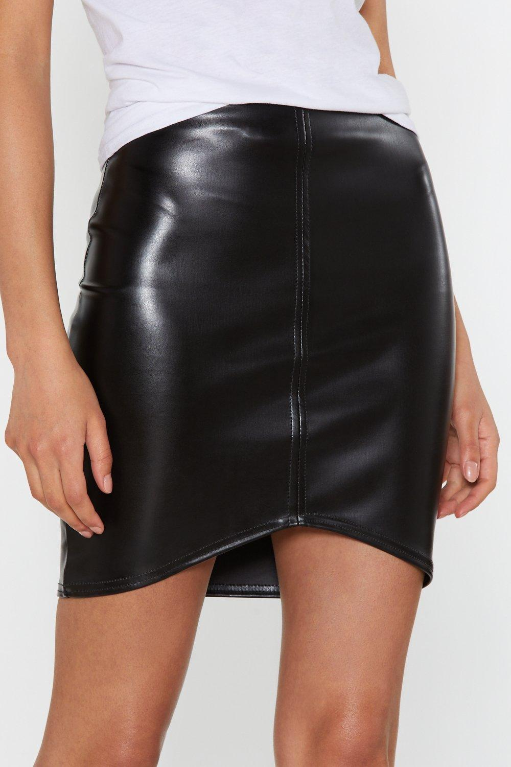 5acd608df Faux Leather Asymmetric Bodycon Mini Skirt | Shop Clothes at Nasty Gal!