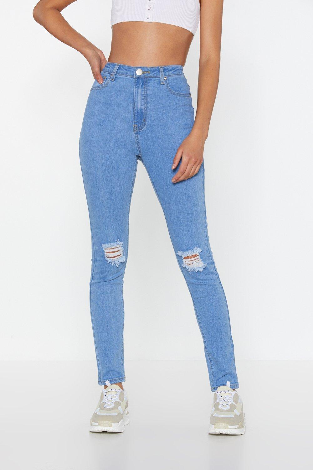 5f8a9f3703e Let Her Rip Distressed Skinny Jeans | Shop Clothes at Nasty Gal!