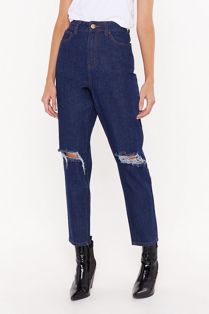 info for big sale comfortable feel Leave 'Em On Their Knees Ripped Mom Jeans | Shop Clothes at Nasty Gal!