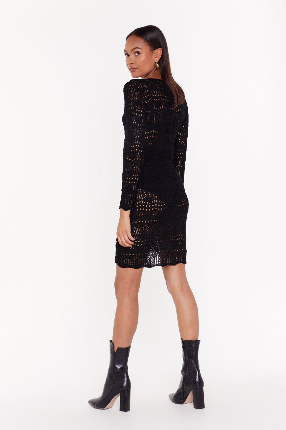 78394f8594c4 Don't Ruche Babe Crochet Dress   Shop Clothes at Nasty Gal!