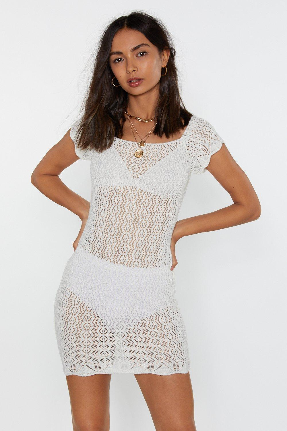 1bc65d75840 Pointelle Off-Shoulder Bodycon Dress | Shop Clothes at Nasty Gal!