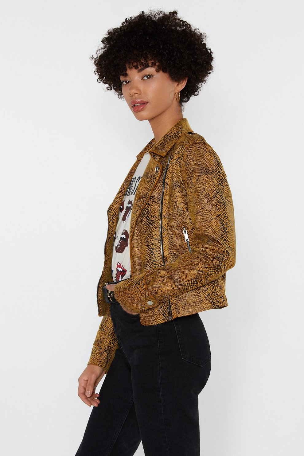 b6bec36adf11 Snake What's Yours Faux Leather Moto Jacket | Shop Clothes at Nasty Gal!