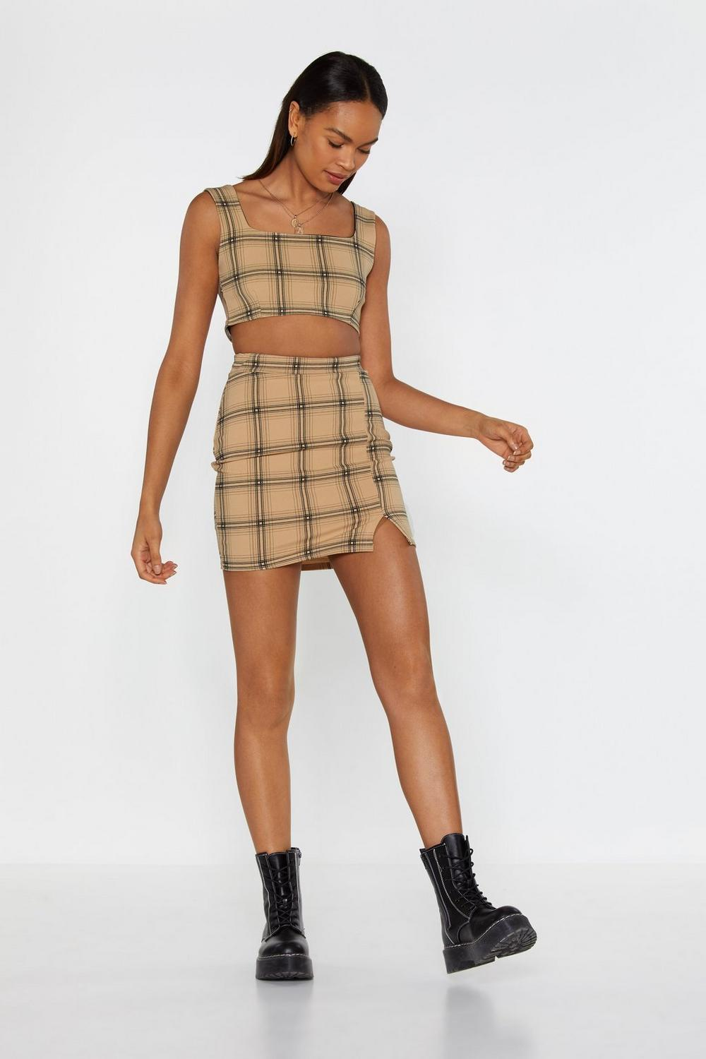 d52c37399b Don't Treat Me Plaid Crop Top and Skirt Set | Shop Clothes at Nasty Gal!