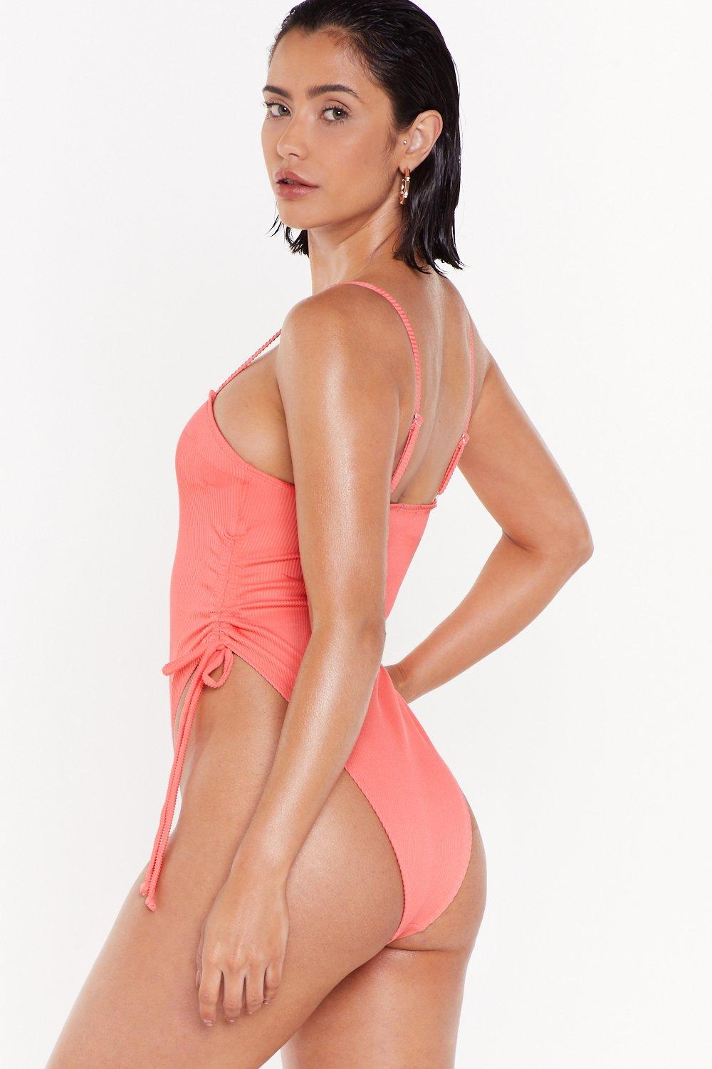 11f8f6951f8 Beach Please Ruched Ribbed Swimsuit | Shop Clothes at Nasty Gal!