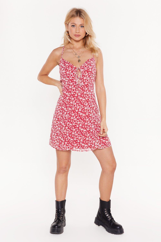f139a91177859 Red Floral Print Mini Dress | Shop Clothes at Nasty Gal!