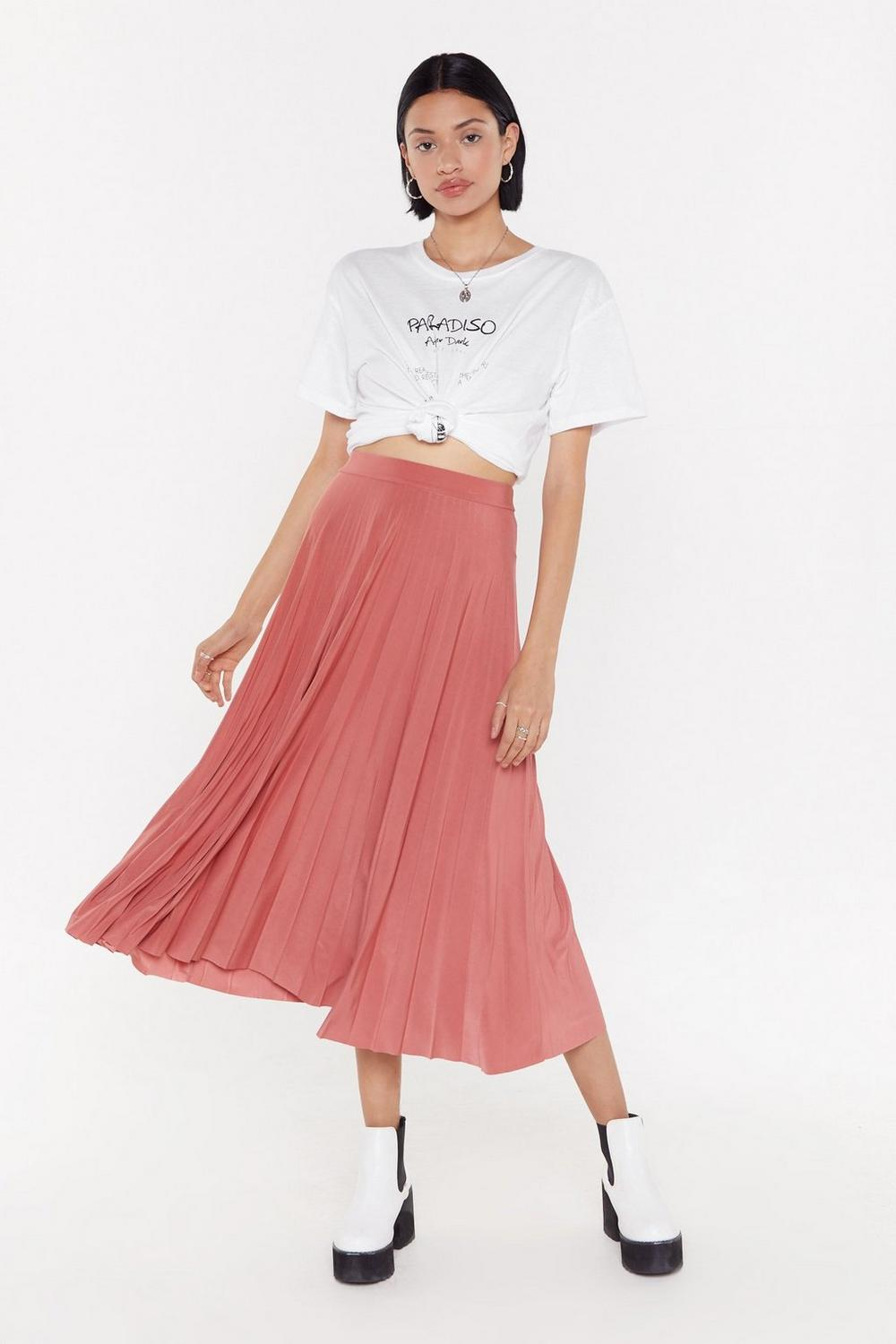 0f9104bca9 MS Pleated Midi Skirt   Shop Clothes at Nasty Gal!