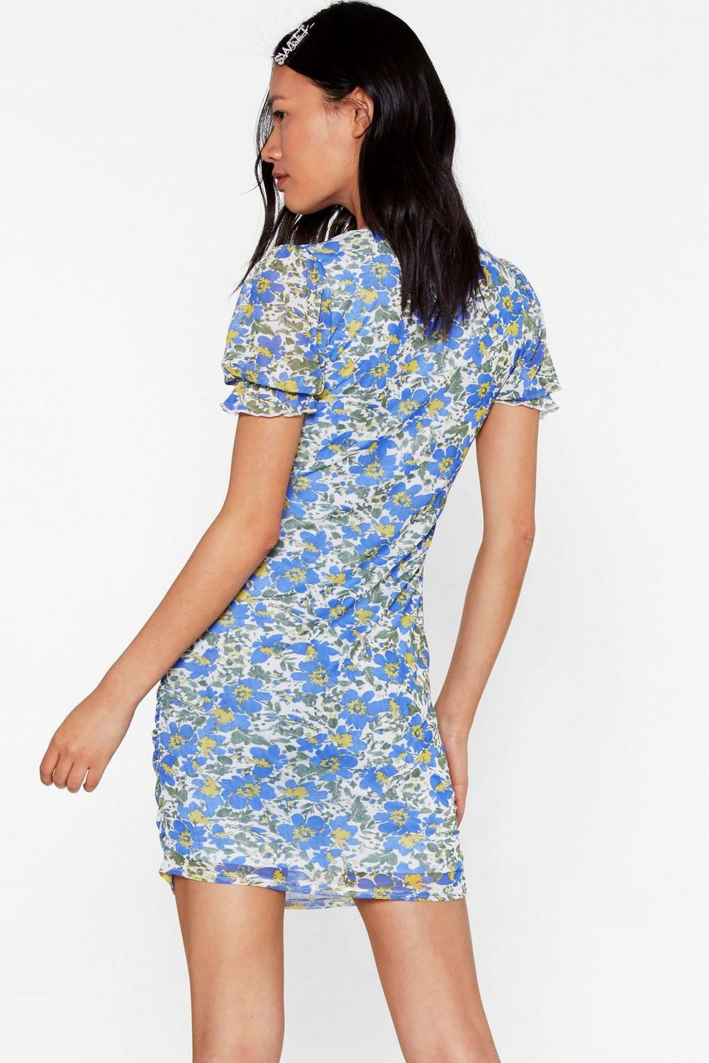 b955c759551 Let Love Grow Floral Mesh Dress | Shop Clothes at Nasty Gal!