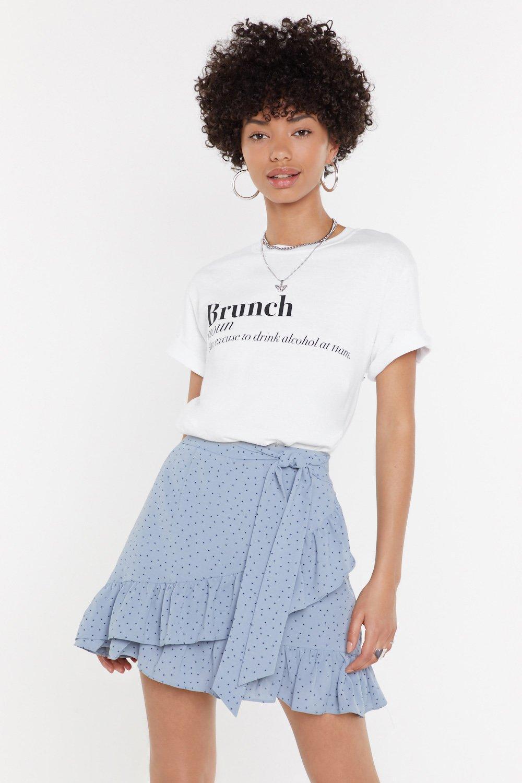 f1c5f6e2a4f9e3 Mini jupe portefeuille volantée à pois Pois pour pois | Shop Clothes ...