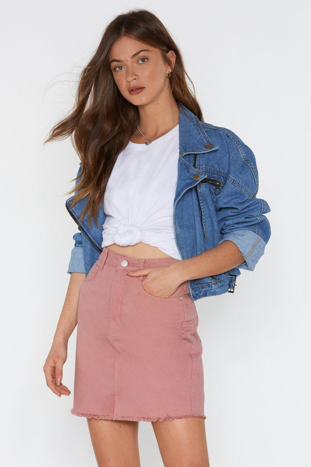 f97c35d003 Wait There Denim Mini Skirt. Hover to zoom