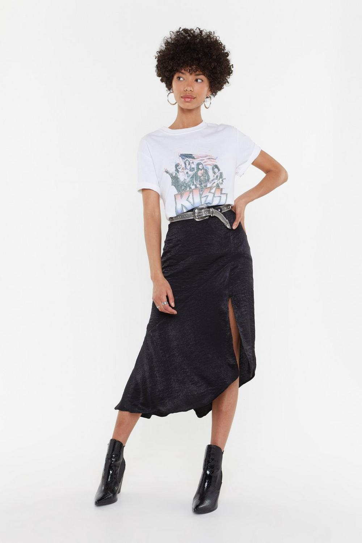 Worried Slick Satin Midi Skirt | Shop Clothes at Nasty Gal!