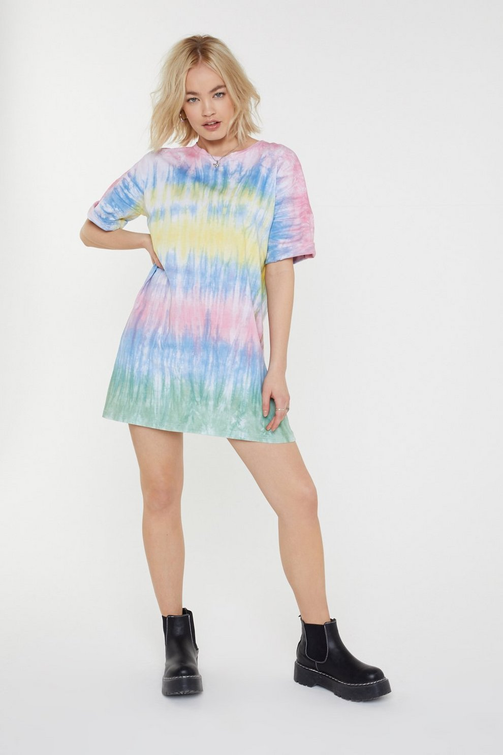 913064e862 Oversize Over Guys Tie Dye Mini Dress