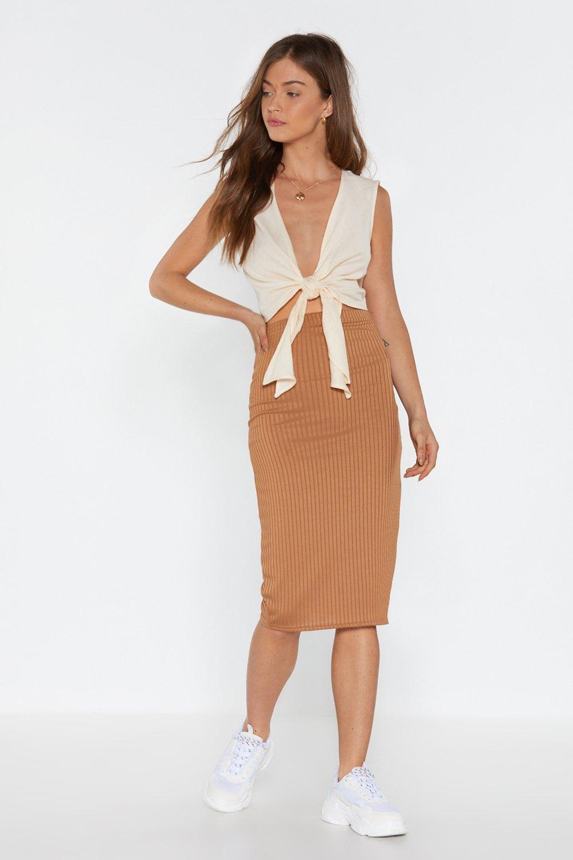 b7b70d8cc2 Line Down Ribbed Midi Skirt | Shop Clothes at Nasty Gal!