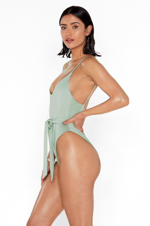 d3146d3446b2e Maillot de bain échancré avec ceinture | Shop Clothes at Nasty Gal!