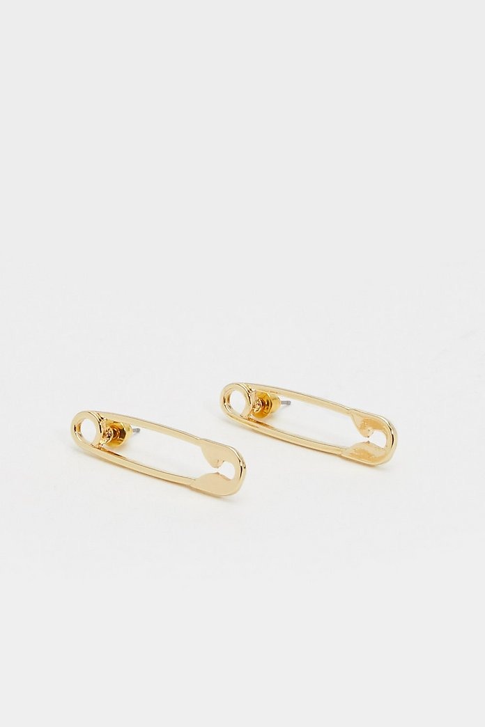Safety Pin First Earrings Nasty Gal