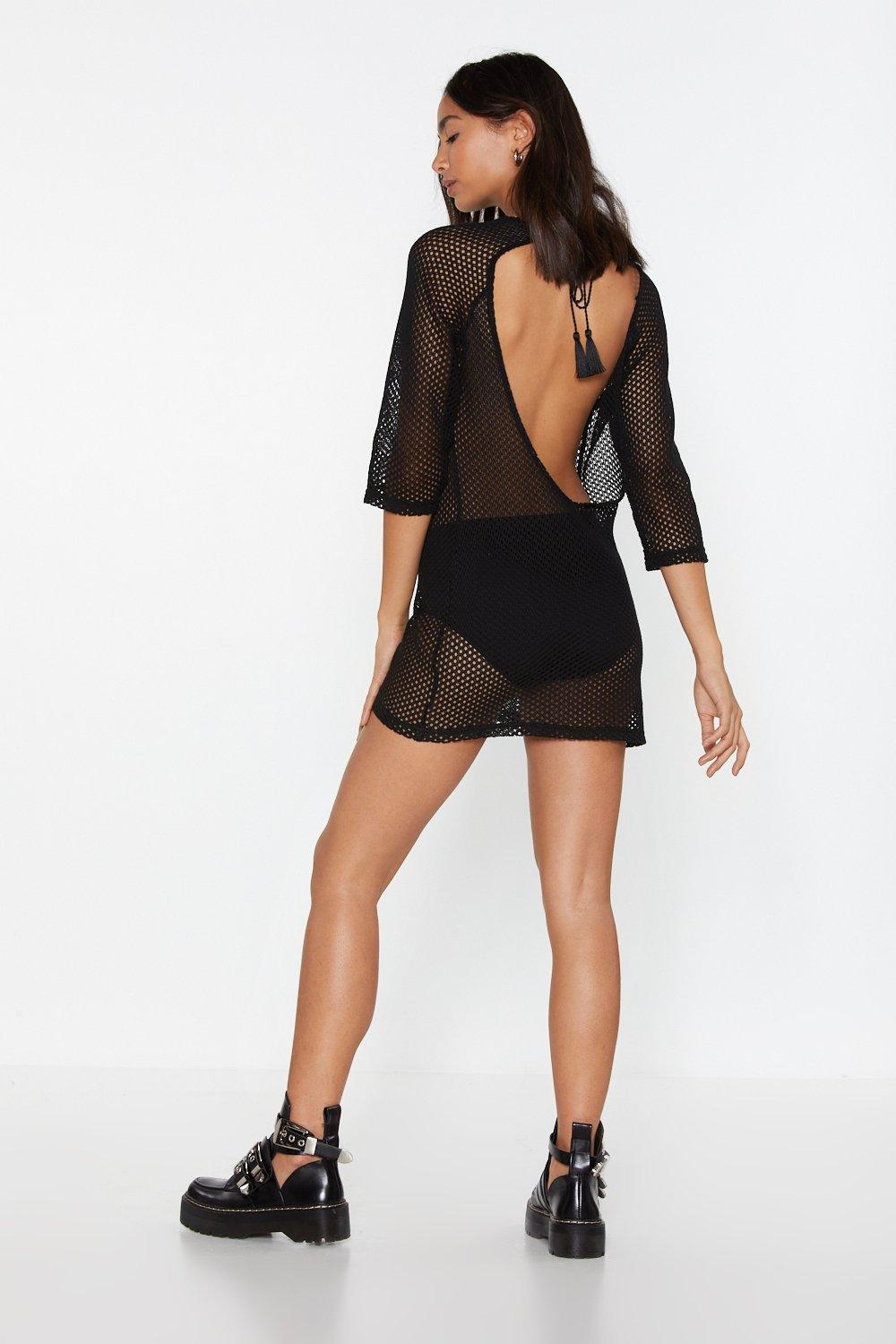 09c12abf712a Don't Let It Net You Down Fishnet Mini Dress | Shop Clothes at Nasty ...