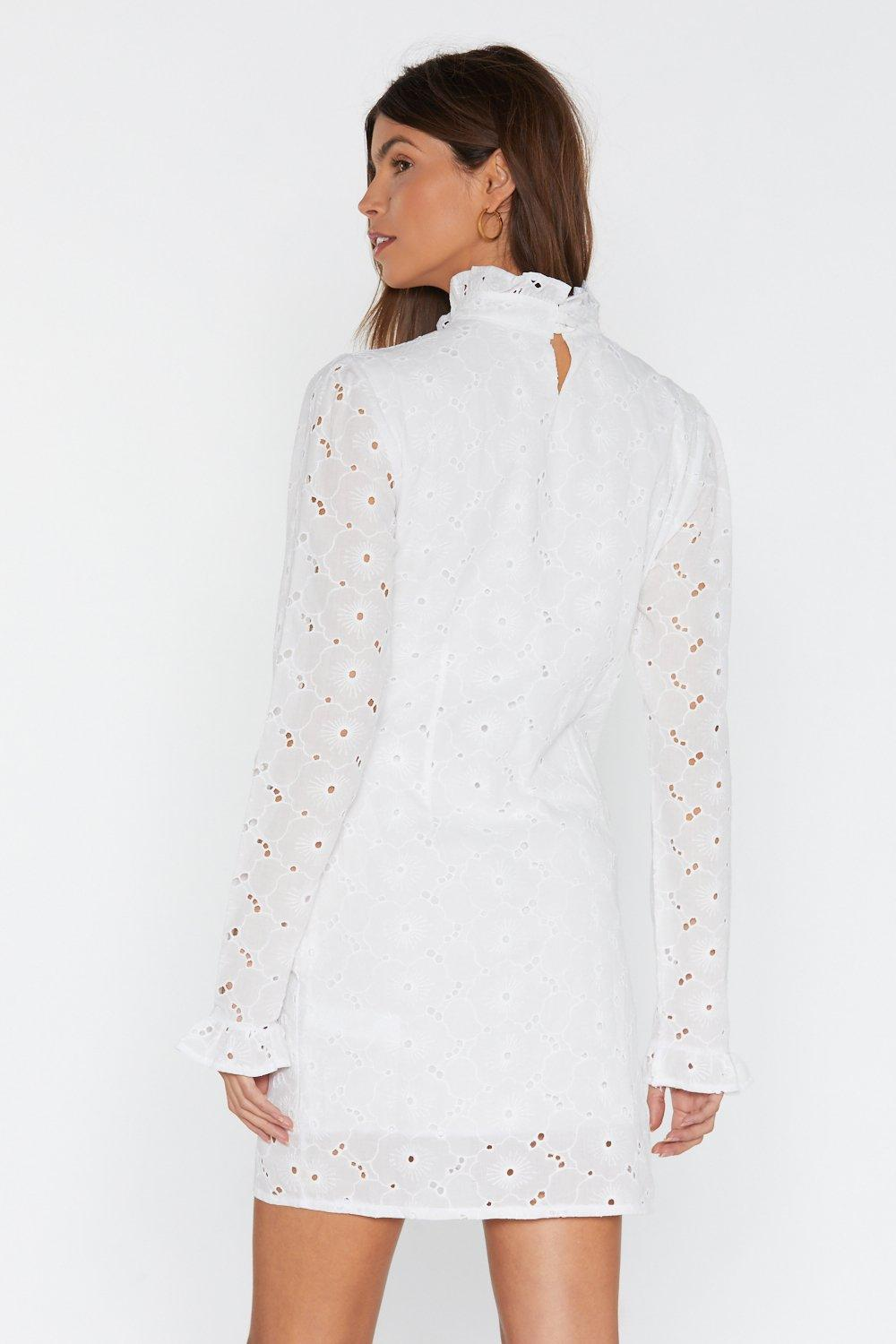 b482ce7ad860d4 Long Sleeve Broderie Peasant Dress | Shop Clothes at Nasty Gal!