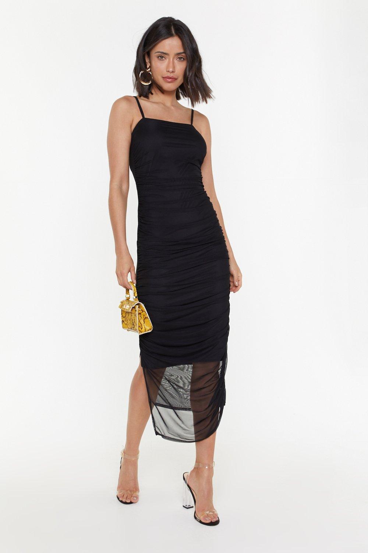 d3b3a36908da Dance the Night Away Ruched Midi Dress | Shop Clothes at Nasty Gal!