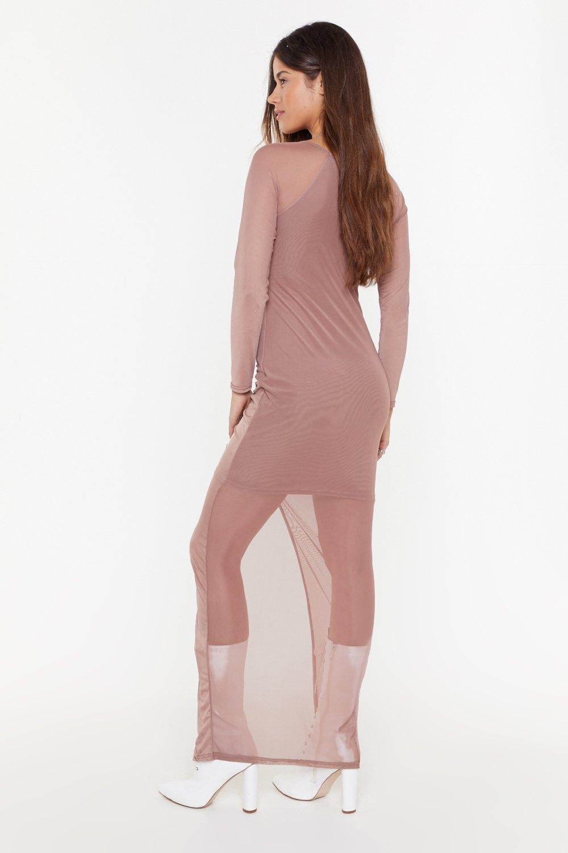 e1fb73e8eea6 Hot Mesh Ruched Maxi Dress | Shop Clothes at Nasty Gal!
