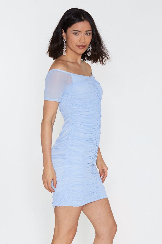 bc52e90e15 Womens Blue Bardot Sleeve Midi Dress. Hover to zoom