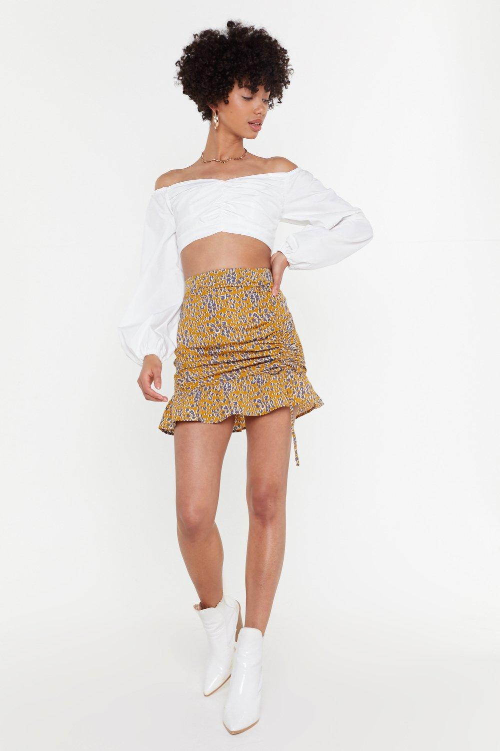 f96586f8042 Ruched Front Volume Sleeve Bardot | Shop Clothes at Nasty Gal!