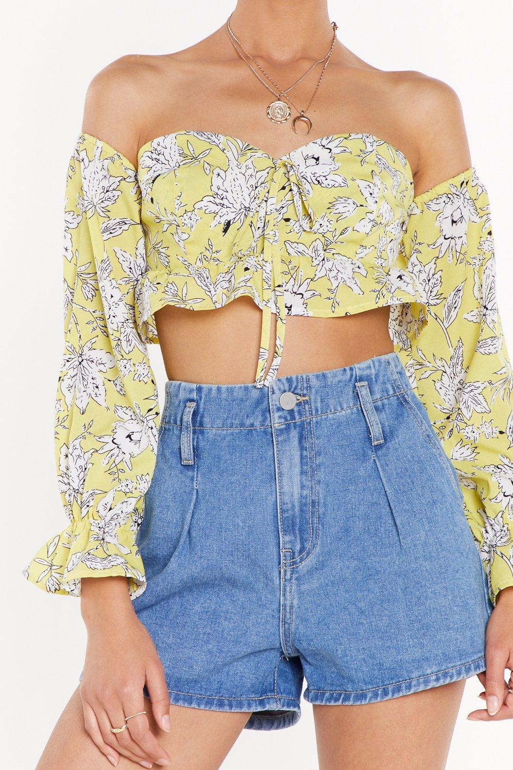 5a92873ed4c In Bloom Off-the-Shoulder Floral Top | Shop Clothes at Nasty Gal!