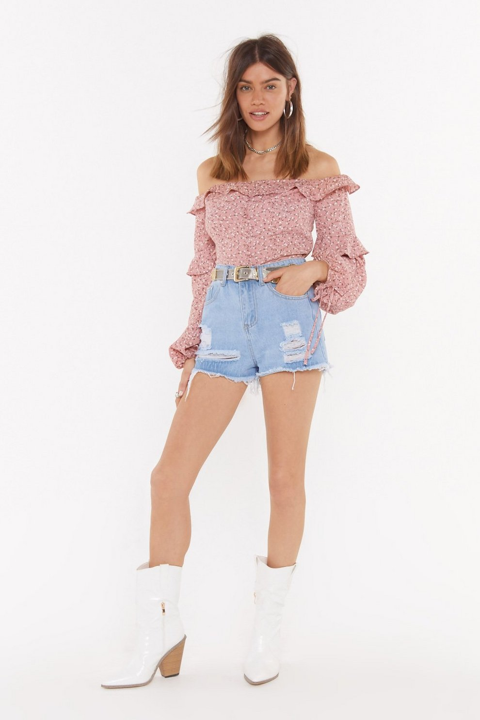 a6ac6ffeadcd65 Buddy Up Floral Off-the-Shoulder Blouse